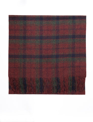 FINAL SALE: MA.AL.BI - Plaid Wool Scarf in Bordeaux