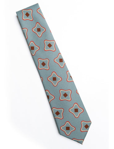 FINAL SALE: CAMOSHITA - Abstract Print Tie in Wool/Silk - Kelly