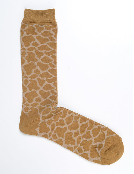 ANONYMOUS ISM - Animal Crew Socks in Mustard