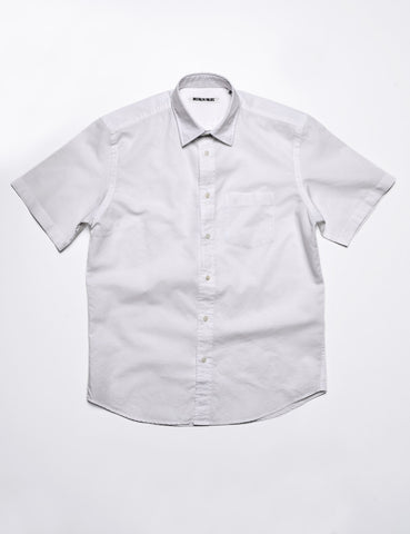 BROOKLYN TAILORS - BKT14 Casual Shirt in Italian Cotton/Linen - Crisp White