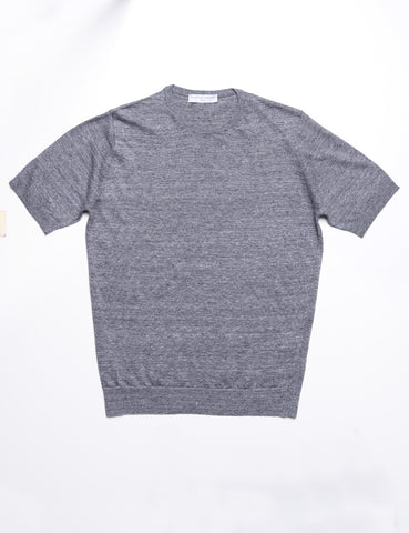 FILIPPO DE LAURENTIIS - Crew Neck Tee in Cotton - Graphite