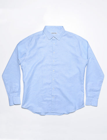 FINAL SALE - BROOKLYN TAILORS - BKT20 Dress Shirt in Light Blue Oxford with Eyelet