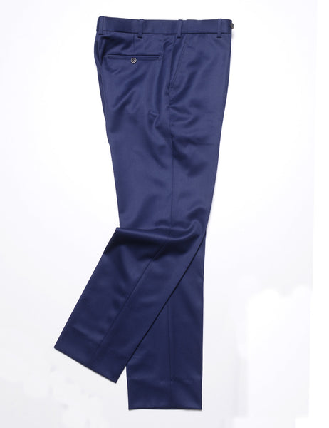 FINAL SALE - BROOKLYN TAILORS - BKT50 Tailored Trouser in Covert Twill - Navy