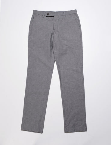 FINAL SALE: BKT30 Slim Chino in Linen/Cotton - Light Grey