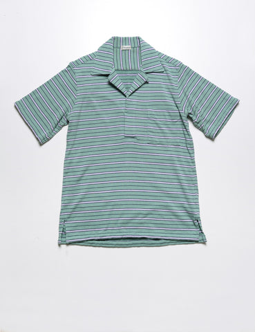 CAMOSHITA - French Terry Border Skipper Polo in Mint