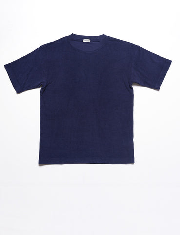 CAMOSHITA - French Terry T-Shirt in Mediterranean Blue