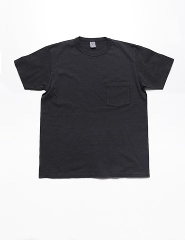 VELVA SHEEN - Pigment-Dyed Pocket Tee in Night