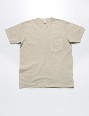 VELVA SHEEN - Pigment-Dyed Pocket Tee in Sahara