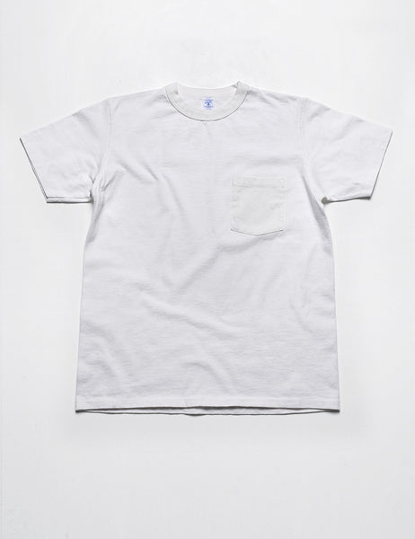 VELVA SHEEN - Pigment-Dyed Pocket Tee in Washed White