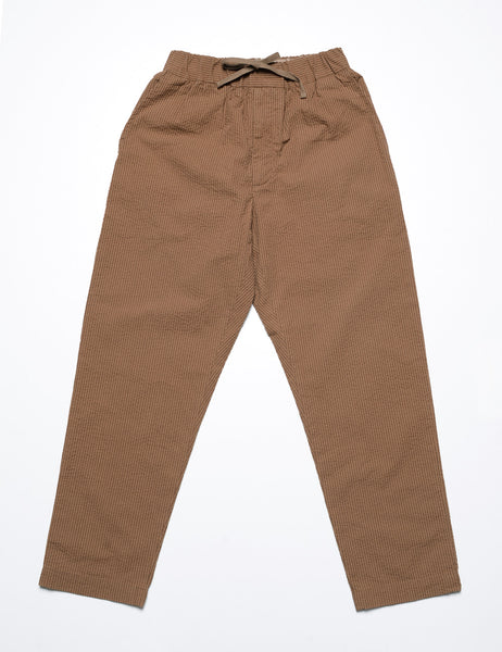 FUJITO - Easy Pant in Seersucker - Carmel