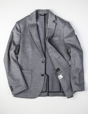 FINAL SALE - BROOKLYN TAILORS - Angora Wool Unstructured Blazer in Grey
