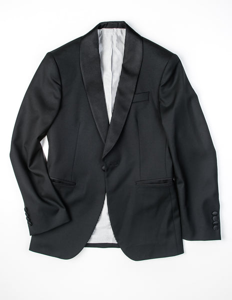 BROOKLYN TAILORS - BKT50 Tuxedo Jacket in Black Twill