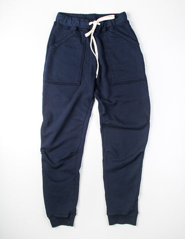 VELVA SHEEN - 8 Oz Army Gym Sweat Pants in Navy