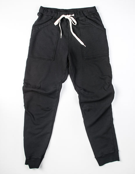 VELVA SHEEN - 8 Oz Army Gym Sweat Pants in Black