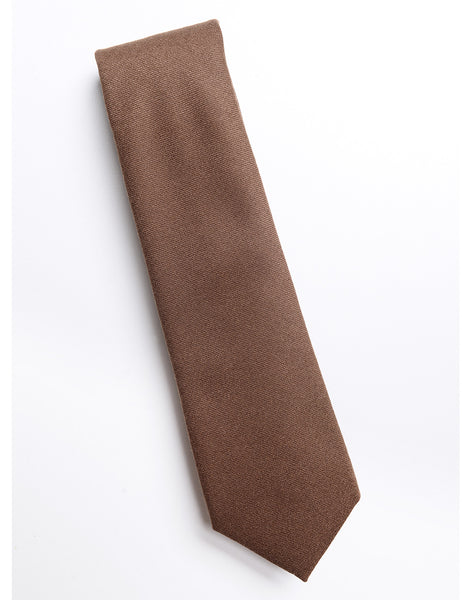 BROOKLYN TAILORS - Wool Flannel Tie - Cappuccino