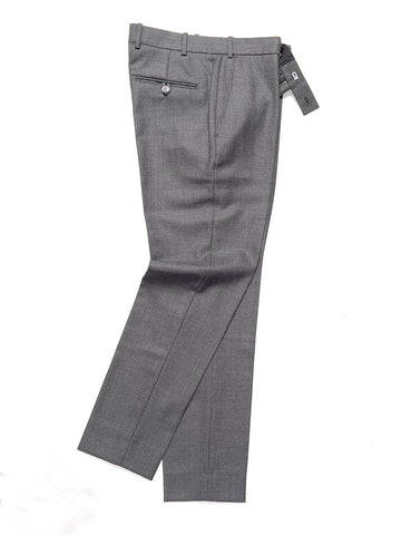 BROOKLYN TAILORS - BKT50 Tailored Trousers in Birdseye Weave - Storm Gray
