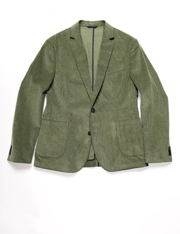 BROOKLYN TAILORS - BKT35 Unstructured Jacket in Corduroy - Fern