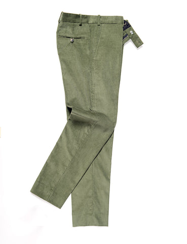 BROOKLYN TAILORS - BKT50 Tailored Trouser in Corduroy - Fern