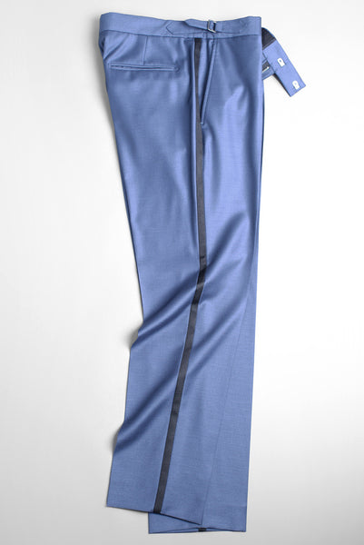 FINAL SALE - BROOKLYN TAILORS - BKT50 Tuxedo Trouser in Antique Blue