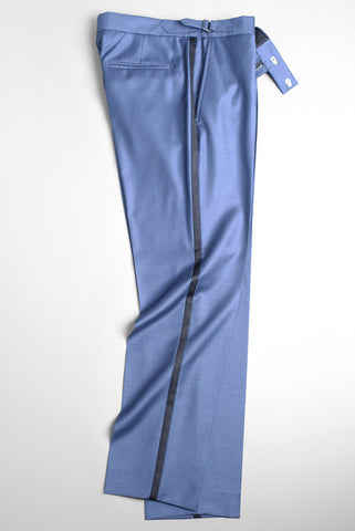 BROOKLYN TAILORS - BKT50 Tuxedo Trouser in Antique Blue