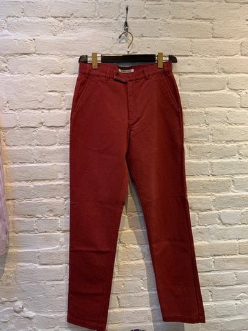 FINAL SALE - BROOKLYN TAILORS - BKT30 Slim-Fit Chino in Fine-Wale Corduroy - Wine