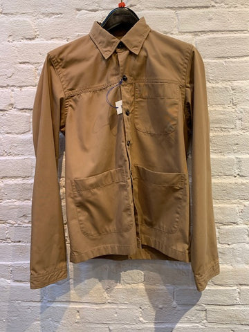 FINAL SALE - BROOKLYN TAILORS - BKT15 Shirt Jacket in Tan Cotton