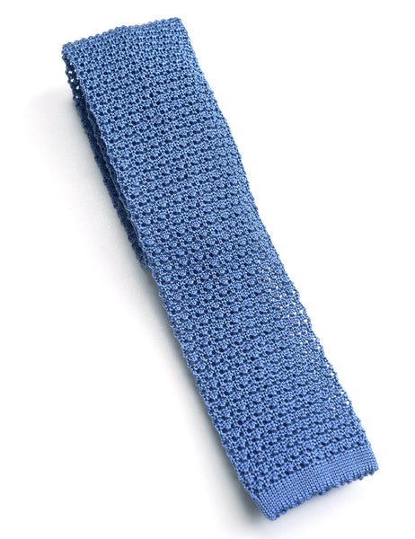 BROOKLYN TAILORS - Italian Silk Knit Tie - Sky