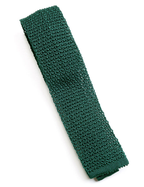 BROOKLYN TAILORS - Knitted Silk Tie - Pine