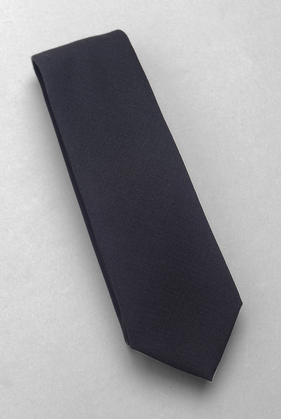 BROOKLYN TAILORS - Super Fine Wool & Mohair Necktie - Black