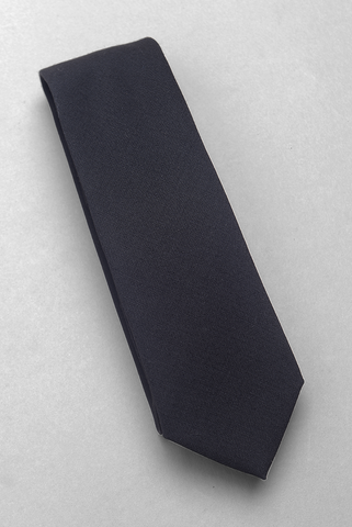 BROOKLYN TAILORS - Solid Wool Necktie - Black