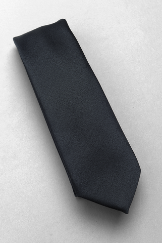 BROOKLYN TAILORS - Formal Satin Necktie - Black