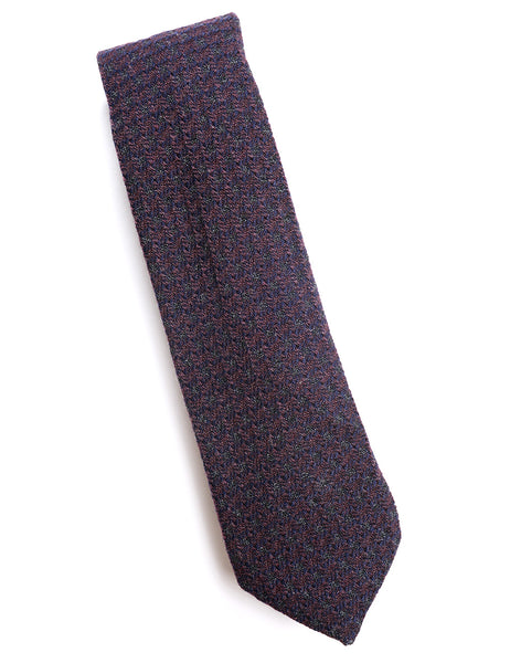 BROOKLYN TAILORS - Wool Dobby Tie - Plumtree