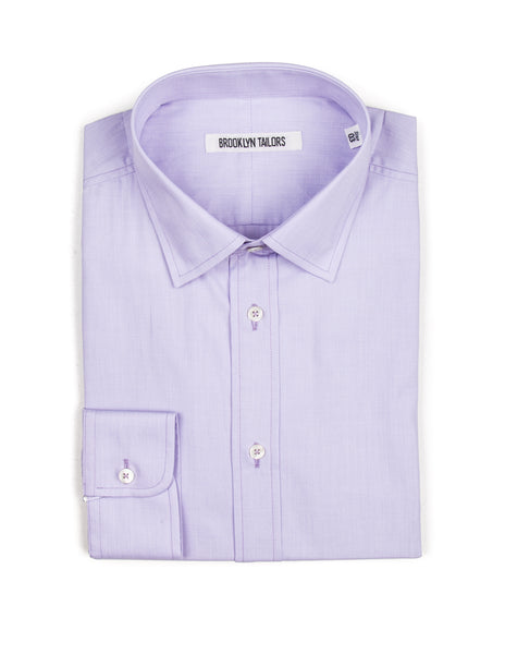 BROOKLYN TAILORS - BKT20 Dress Shirt in Lavender End-on-End