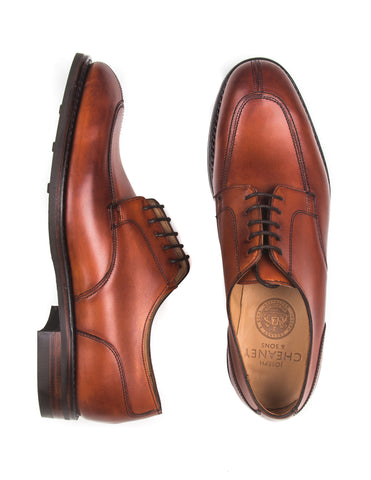 JOSEPH CHEANEY - Chiswick Derby Shoes in Dark Leaf Calf Leather