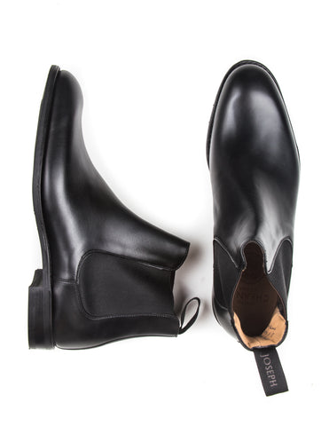 JOSEPH CHEANEY - Godfrey Chelsea Boots  in Black Calf Leather