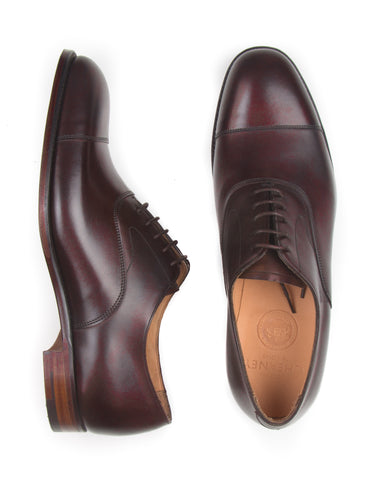 JOSEPH CHEANEY - Alfred Capped Oxford in Burnished Mocha Calf Leather