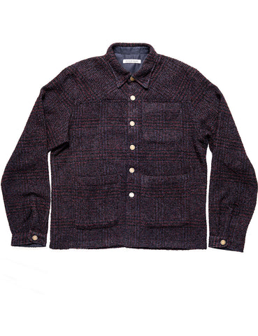 BROOKLYN TAILORS - BKT15 Shirt Jacket in Wool Boucle - Nightglow