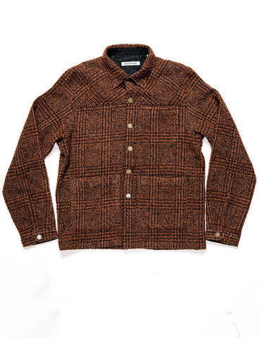 BROOKLYN TAILORS - BKT15 Shirt Jacket in Wool Boucle - Ember