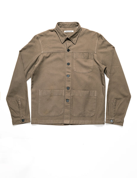 BROOKLYN TAILORS - BKT15 Shirt Jacket in Cotton Twill - Bark