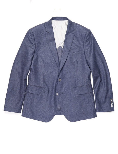 BROOKLYN TAILORS - BKT50 Tailored Jacket in Brushed Birdseye - Deep Blue
