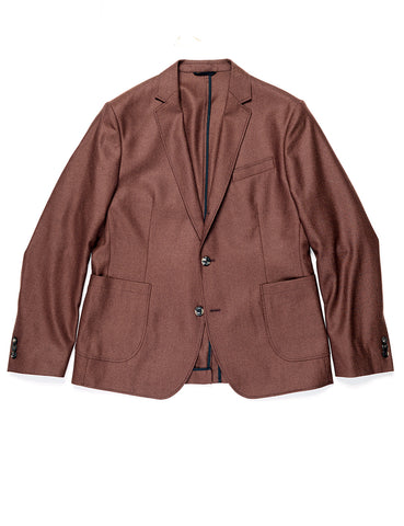 FINAL SALE: BROOKLYN TAILORS - BKT35 Casual Jacket in Brushed Twill - Burnt Sienna