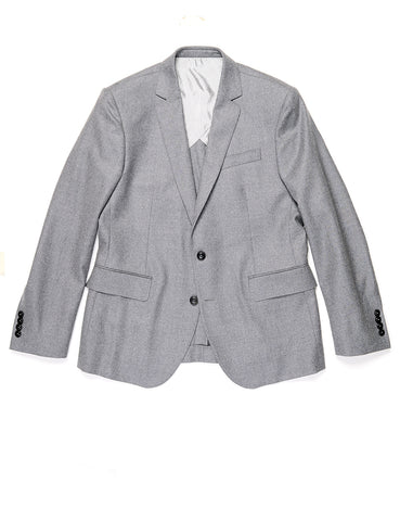 BROOKLYN TAILORS - BKT50 Tailored Jacket in Wool Flannel - Dusky Gray