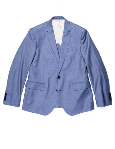 FINAL SALE: BROOKLYN TAILORS - BKT50 Tailored Blazer in Fine Wool Twill - Cloud Blue