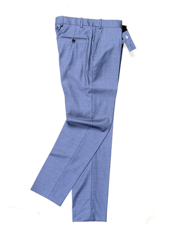 BROOKLYN TAILORS - BKT50 Tailored Trousers in Fine Wool Twill - Cloud Blue