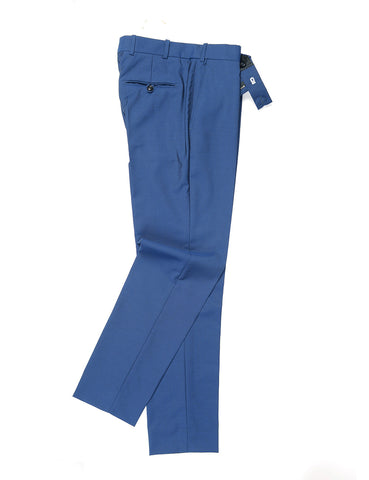 BROOKLYN TAILORS - BKT50 Tailored Trousers in Wool/Mohair - Pure Blue