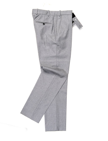 BROOKLYN TAILORS - BKT50 Tailored Trousers in Wool Flannel - Dusky Gray