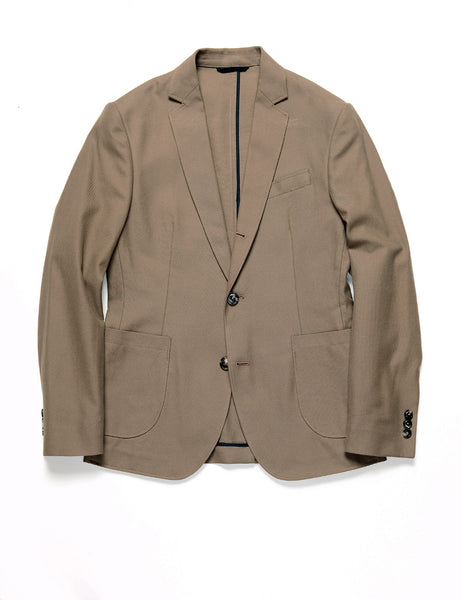 BROOKLYN TAILORS - BKT35 Unstructured Jacket in Cotton Twill - Bark