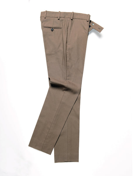 BROOOKLYN TAILORS - BKT50 Tailored Trouser in Cotton Twill - Bark