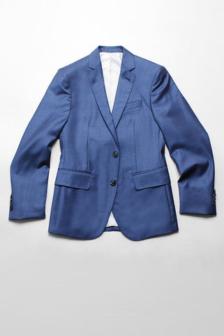 FINAL SALE - BROOKLYN TAILORS - BKT50 Blazer in Muted Blue Tickweave