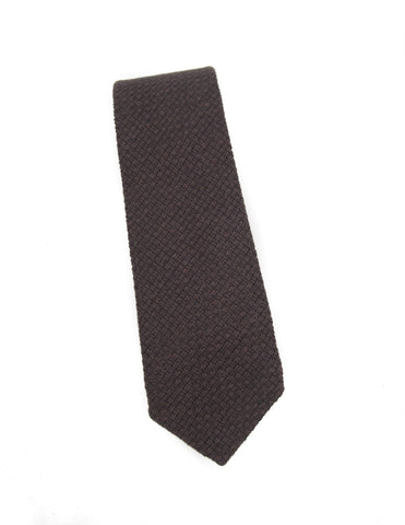 BROOKLYN TAILORS - Brown Open Weave Tie